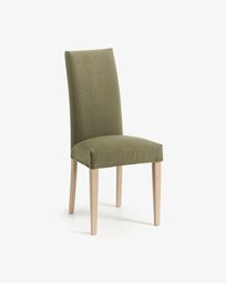 Freda chair green and natural