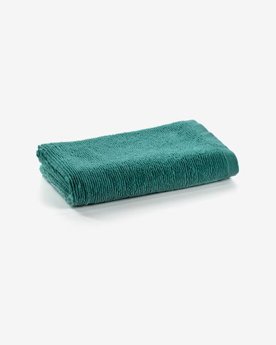Miekki small bath towel dark turquoise