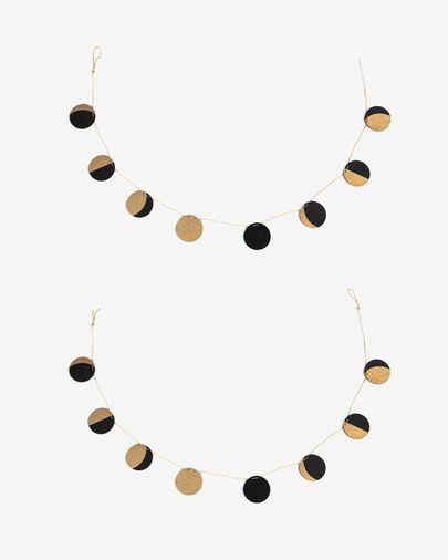 Astrea black background lunar phase garlands set