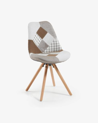 Ralf chair patchwork brown