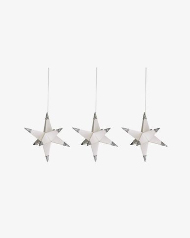 Belalia set of 3 decorative stars