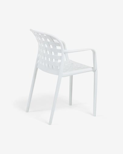 White Isa armchair