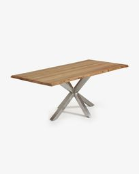 Argo table 220 cm natural oak matt stainless steel legs