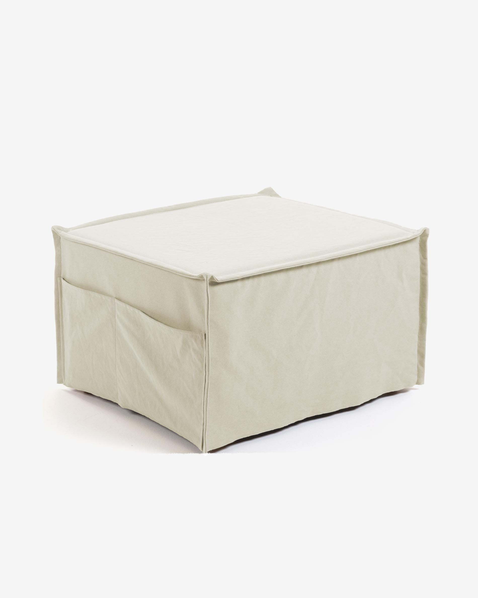 Blancho Storage Ottoman Collapsible Foldable Foot Rest Round Storag Ottoman Blue