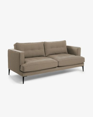 Brown 3-seater Tanya sofa 183 cm