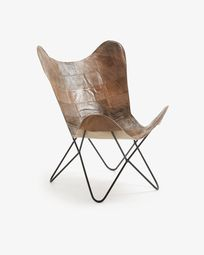 Fly armchair brown