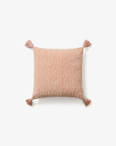 Cushion cover Geoline pink velvet