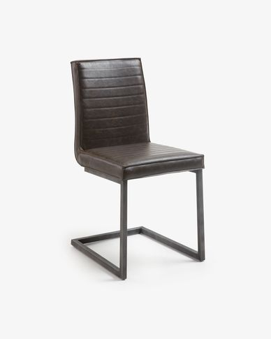 Tusk chair dark brown