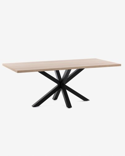 Argo table 180 cm natural melamine black legs