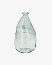 Breena medium clear vase