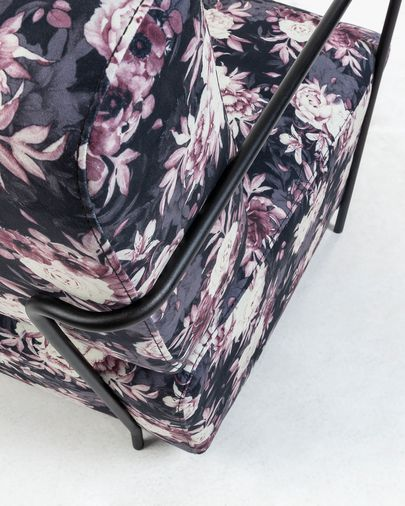 Gamer armchair with floral print