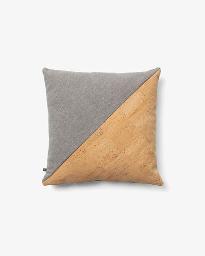 Myla cushion cover 45 x 45 cm cork and grey