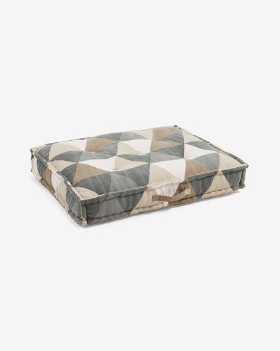 Biscayne cushion with triangles