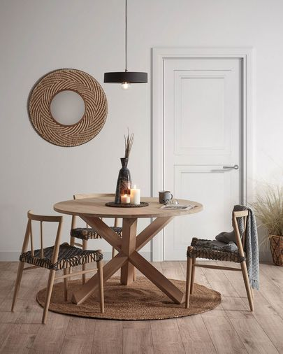 Table Lotus Ø 120 cm bois