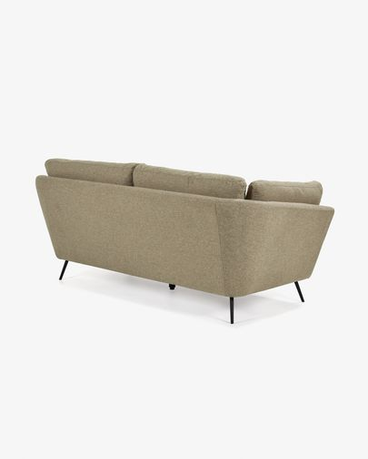 Brown 3-seater Sahira sofa 195 cm