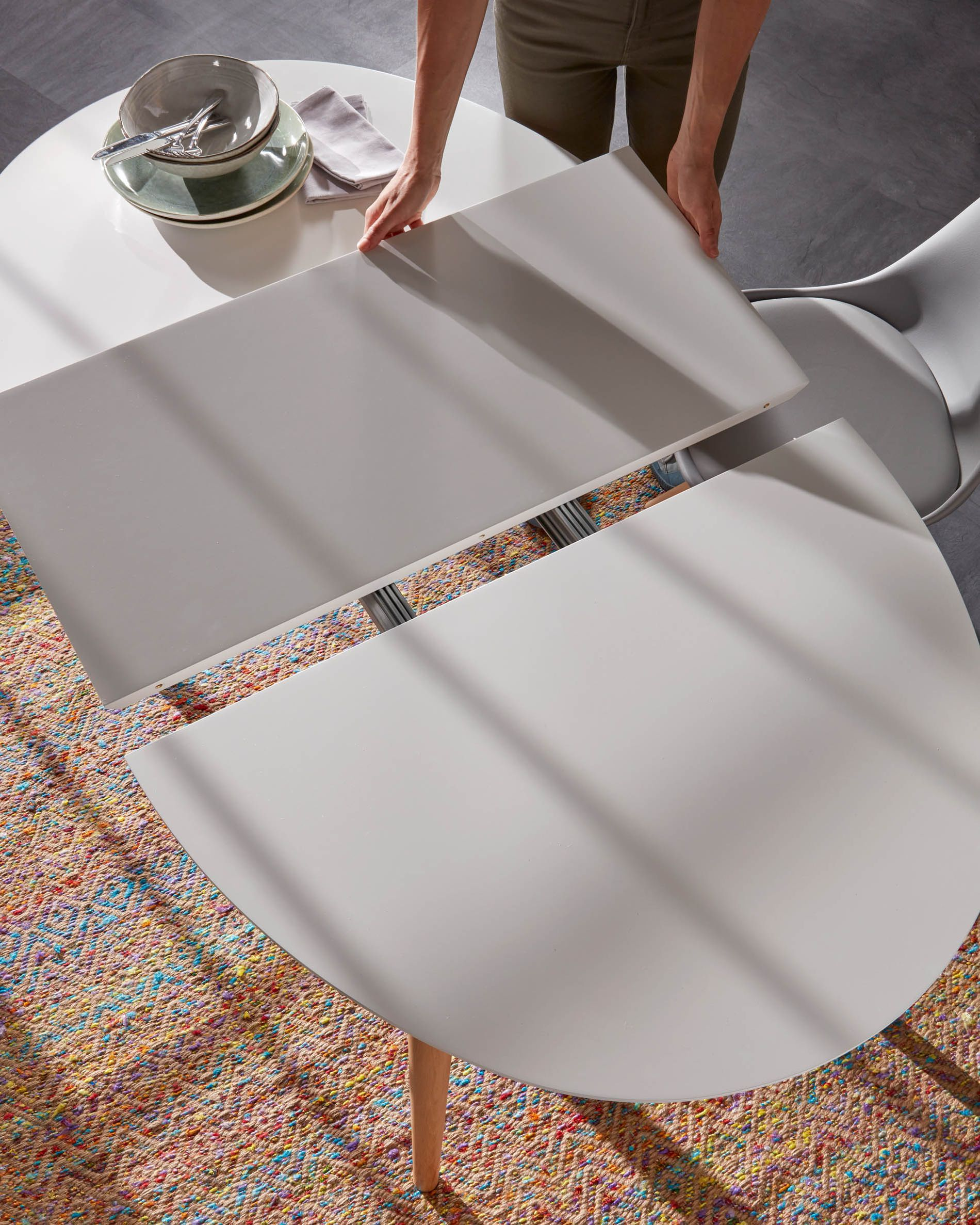 Table Oqui extensible ovale 140 (220) x 90 cm blanc | Kave Home®
