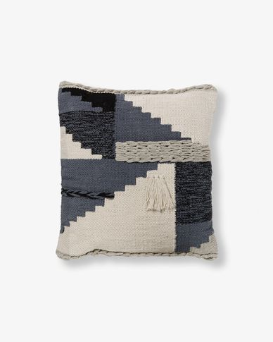 Atmit cushion cover greyish blue