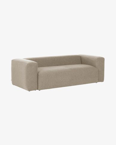 Beige 2 seaters Blok sofa 210 cm