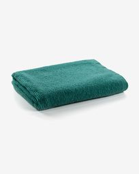 Miekki large bath towel dark turquoise