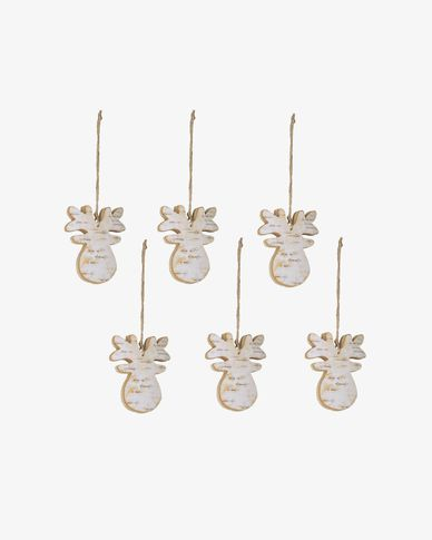 Alira set of 6 Christmas reindeer decorations