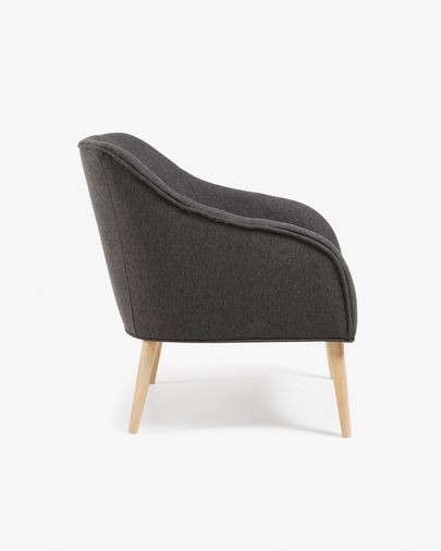 Graphite Bobly armchair