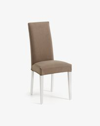Freda chair Bulova brown and white