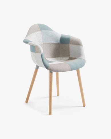 Blue patchwork Kevya armchair