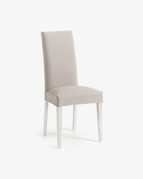 Freda chair beige and white