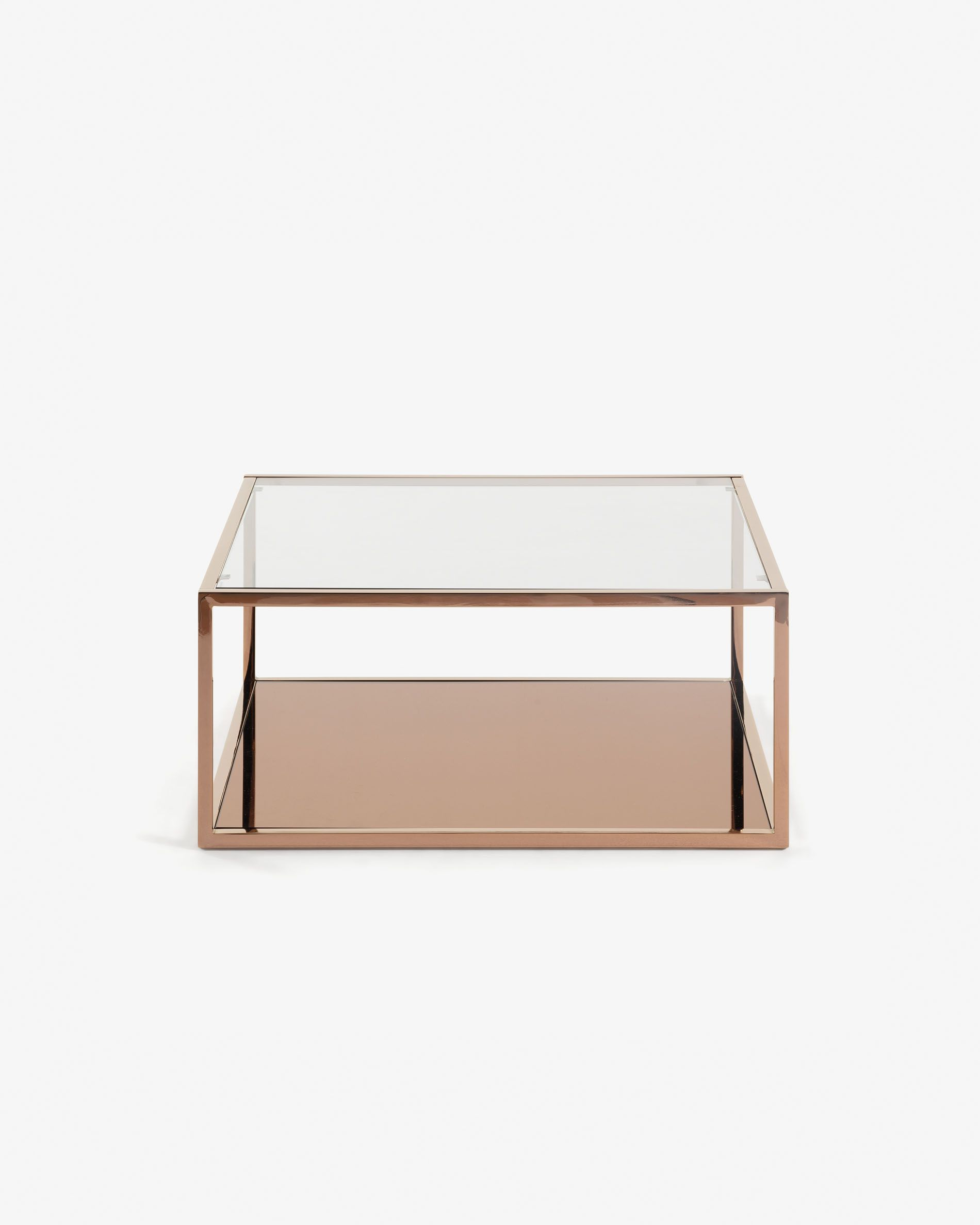 Greenhill Square Copper Coffee Table 80 X 80 Cm Kave Home