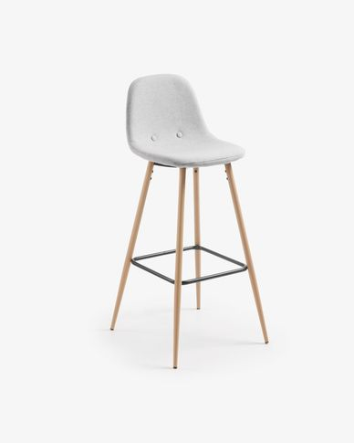 Light grey Nolite barstool height 75 cm