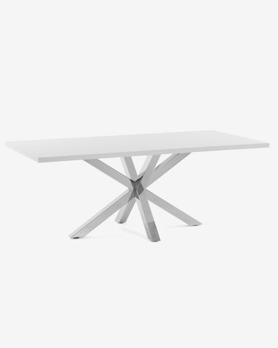 Argo table 180 cm white melamine stainless steel legs