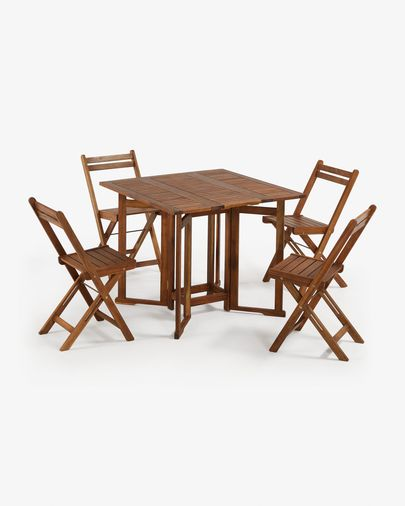 Gustave table set and 4 folding chairs