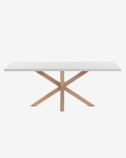 Argo table 200 cm white melamine wood effect legs