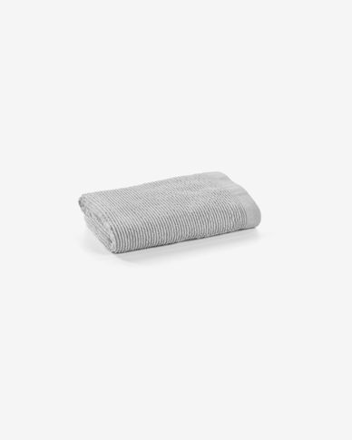Miekki hand towel light grey