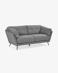 Grey 3-seater Sahira sofa 195 cm