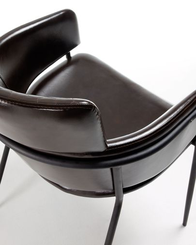 Renne armchair dark brown