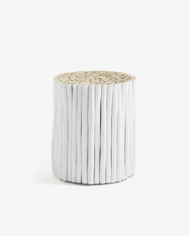White Filip side table