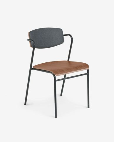 Zaha walnut wood chair