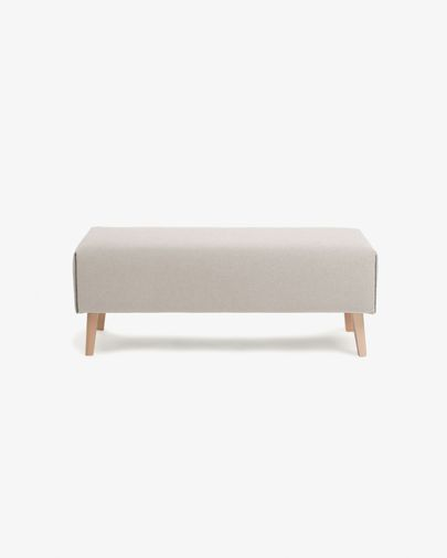 Beige Dyla bench 111 cm