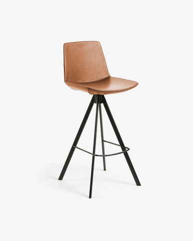 Brown Zeva barstool height 75 cm