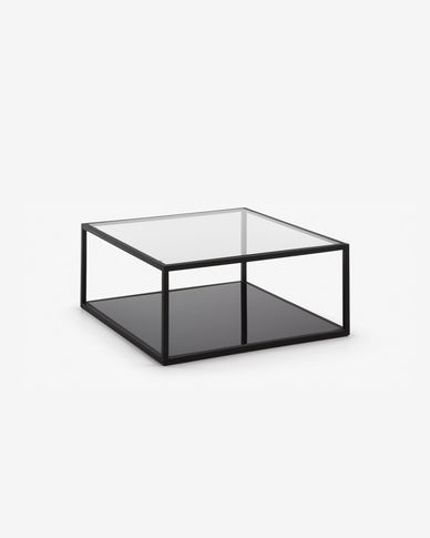 Blackhill black square coffee table 80 x 80 cm