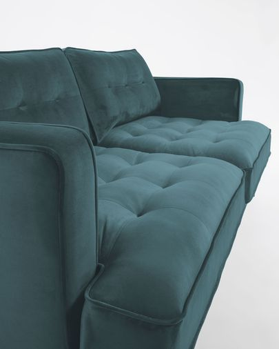 Canapé Tanya velours turquoise 183 cm