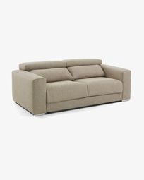 Beige 3-seater Atlanta sofa 210 cm