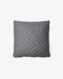 Kam cushion quilted 45 x 45 cm grey