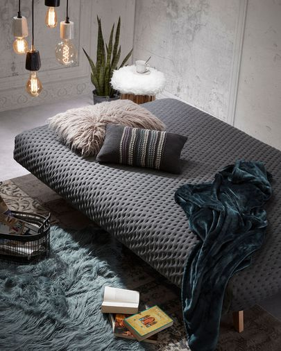 Koki sofa bed quilted, grey