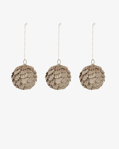 Caroll decorative round bauble set