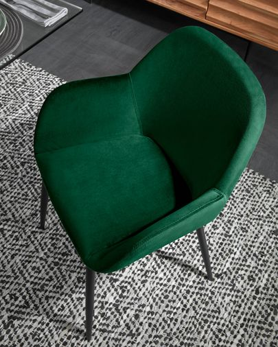 Konna green velvet chair