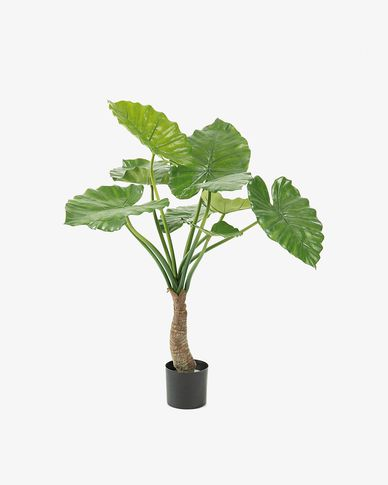 Pianta alocasia artificiale Zelena