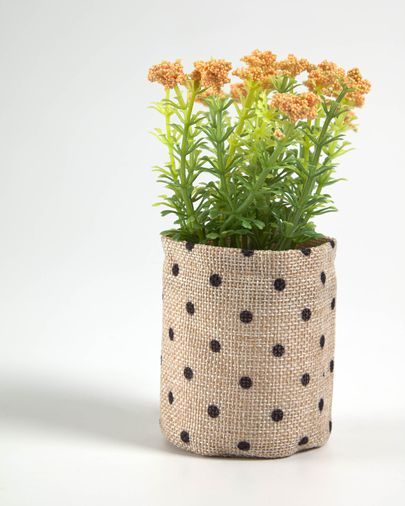 Artificial leonitis leonurus plant in raffia pot