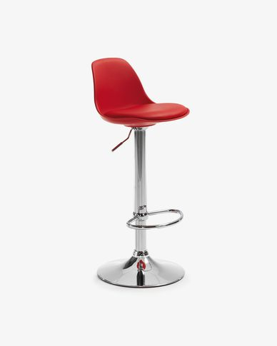 Red Orlando-T barstool height 60-82 cm